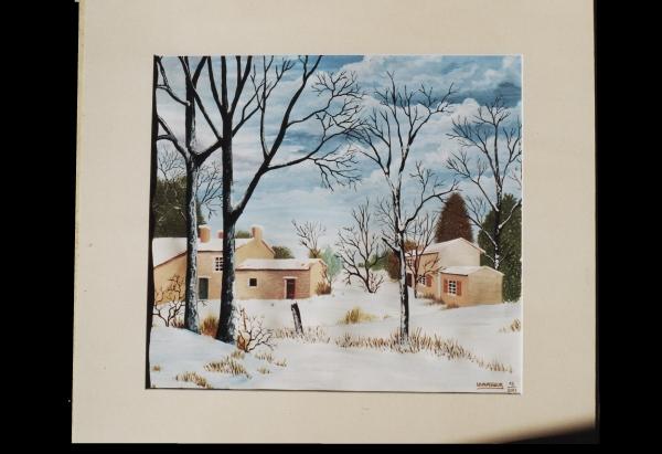 Groupe de maisons dans la neige dans GALERIE PERSONNELLE groupe-maisons