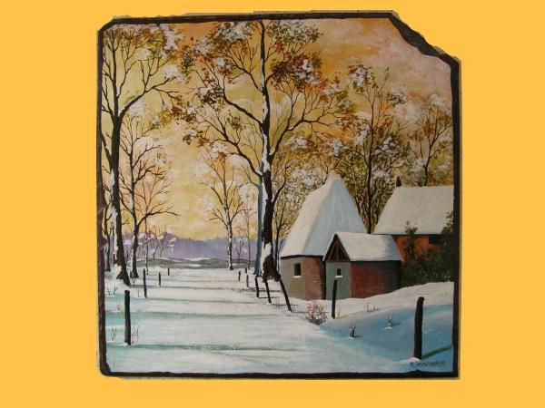 ferme perdu dans la neige